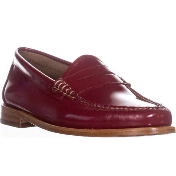 33fe16925d5 Weejuns G H Bass   Co Whitney Penny Loafers Red